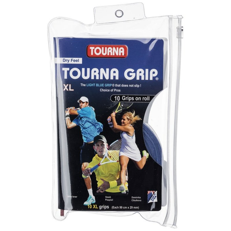 Unique Tourna Grip XL Overgrip 10pc Light Blue