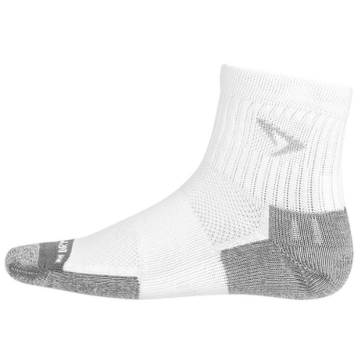 Drymax Tennis Quarter Crew White Socks (Size: X-Large, EUR 44.5-47)