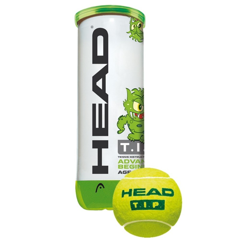 Head T.I.P. Green Ball 3-ball Can