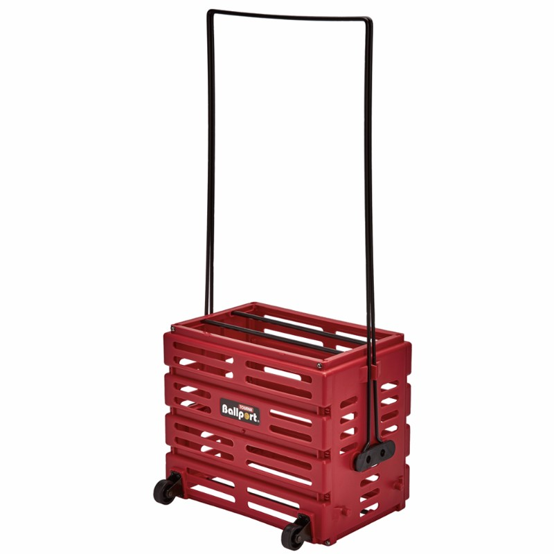 Unique Ballport Deluxe 80-Ball Basket with Wheels Red