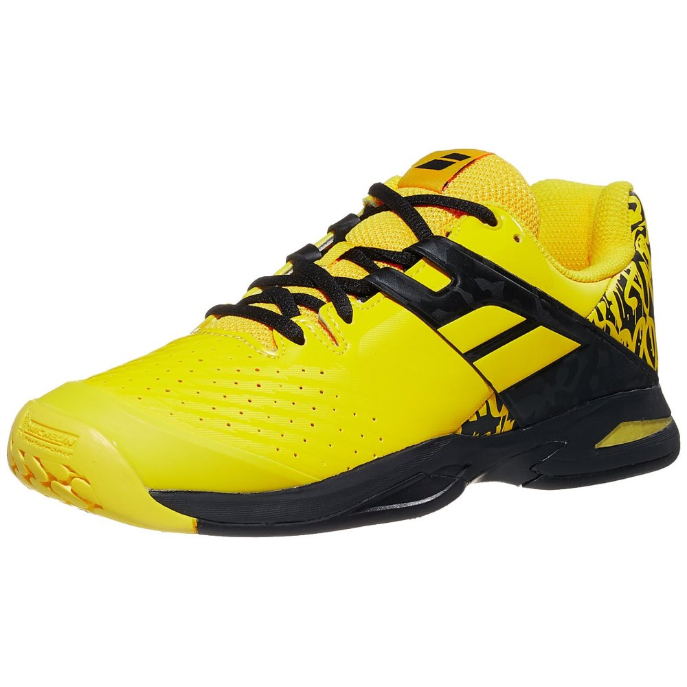 Babolat Propulse AC Lemon/Navy Junior Shoes