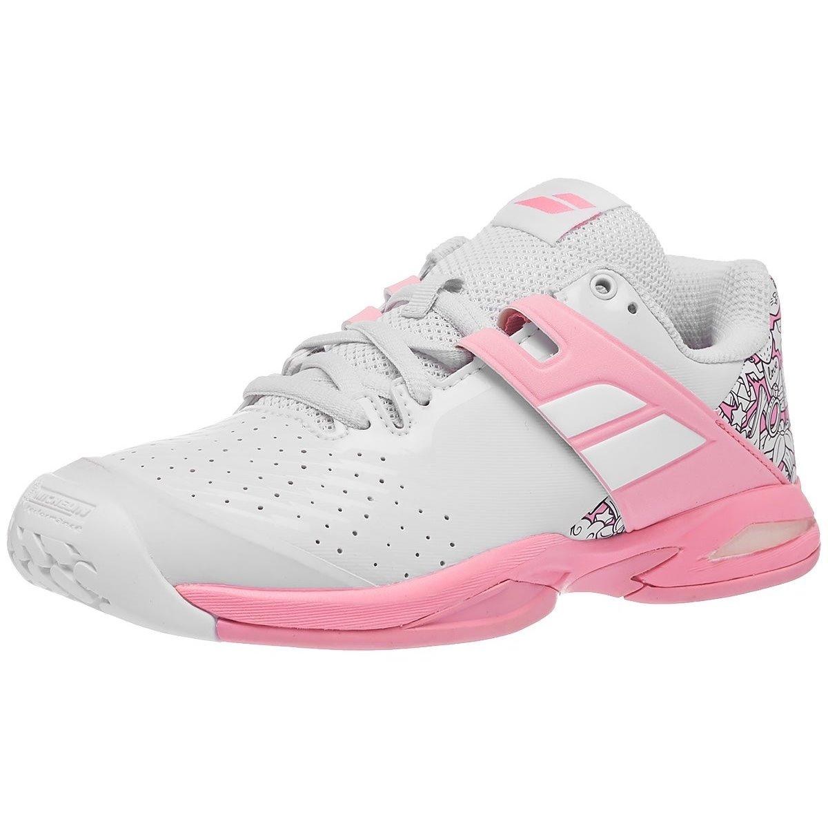 Babolat Propulse AC White/Pink Junior Shoes