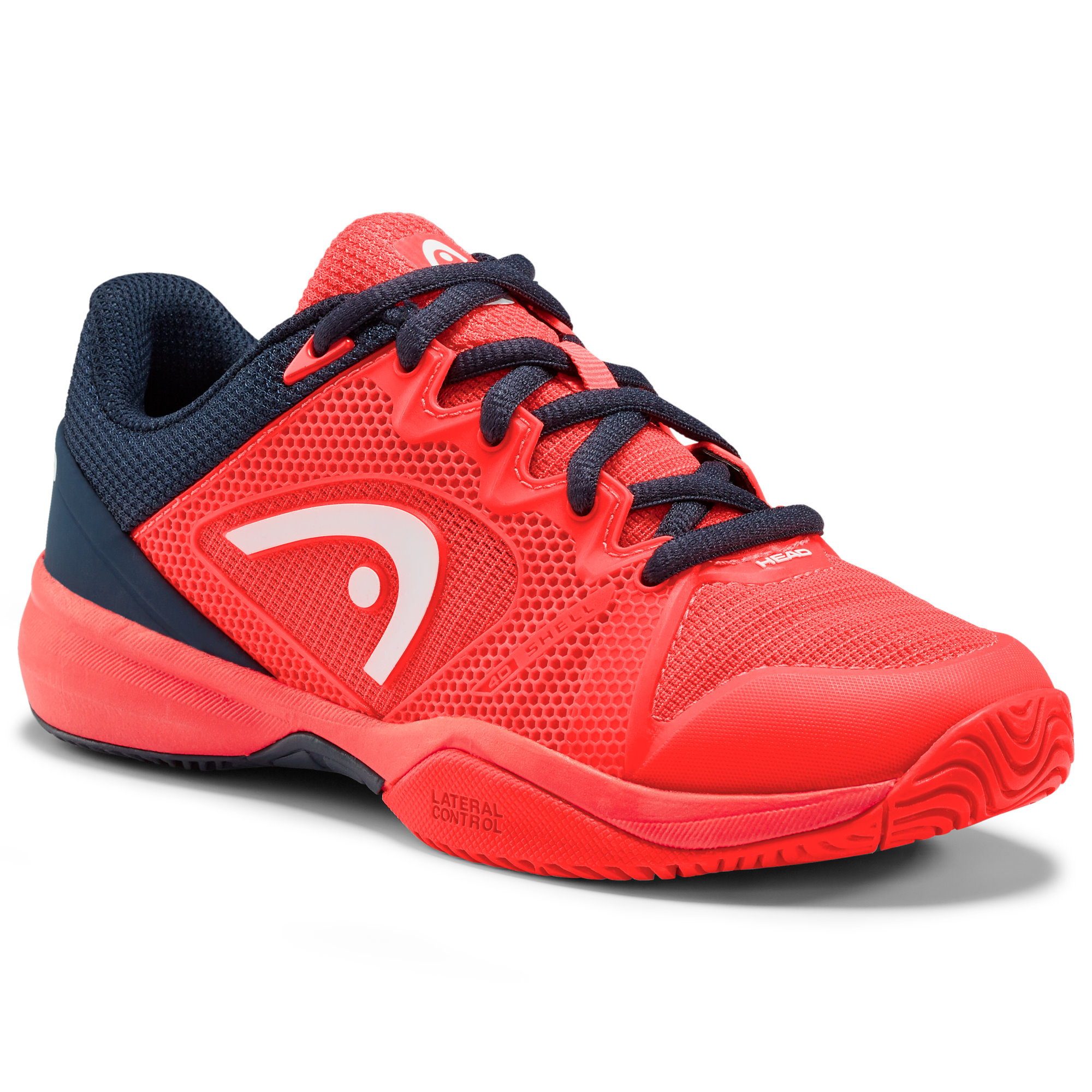 Head Revolt Pro 2.5 Neon Red/Dark Blue Junior Shoes