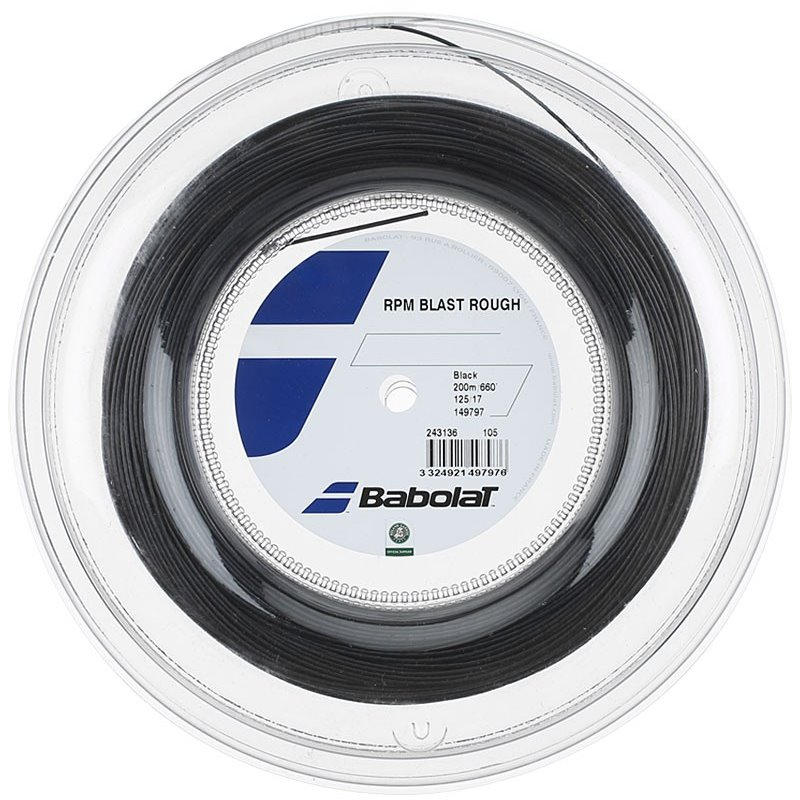 Babolat RPM Blast Rough 16 Reel 200m Black String