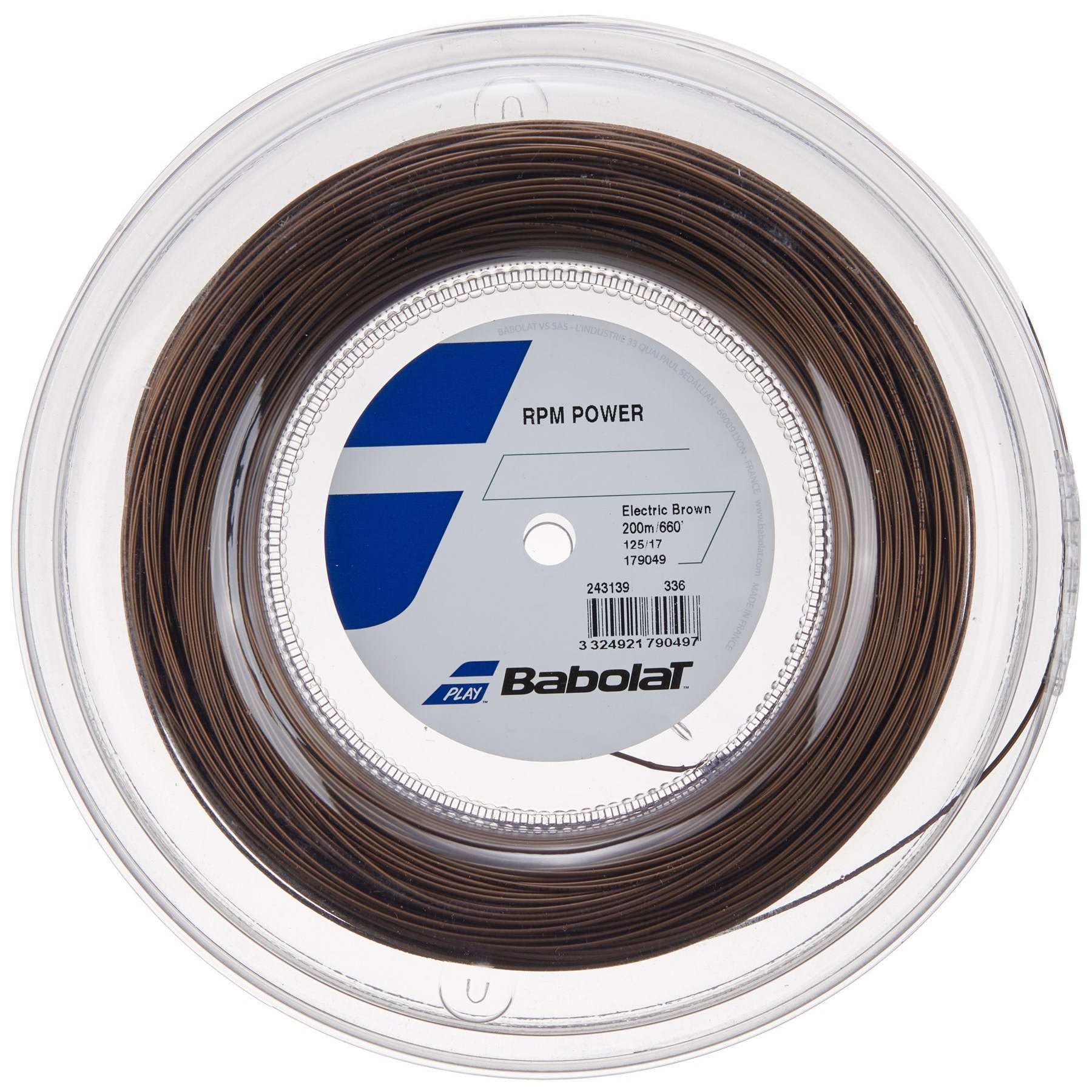 Babolat RPM Power 17 Reel 200m Brown String