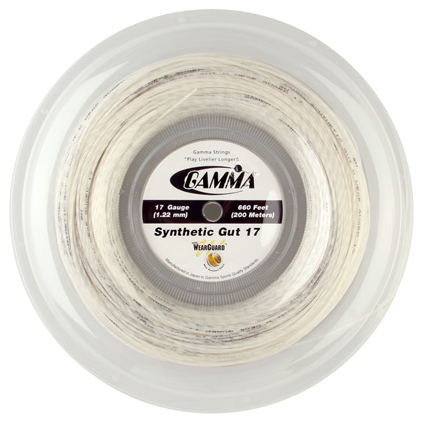 Gamma Synthetic Gut WearGuard 17 Reel White String