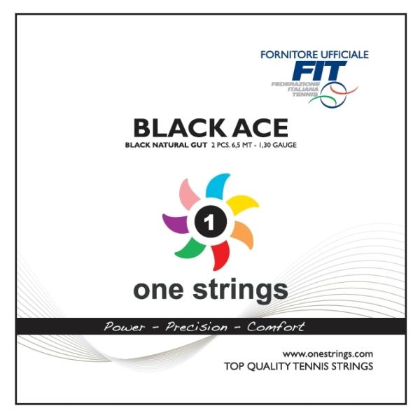 One Strings Black Ace Natural Gut Black String