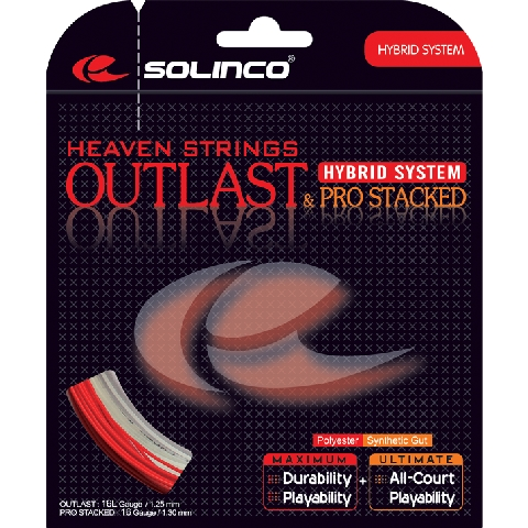Solinco Hybrid Outlast 16L & Pro Stacked 16 String
