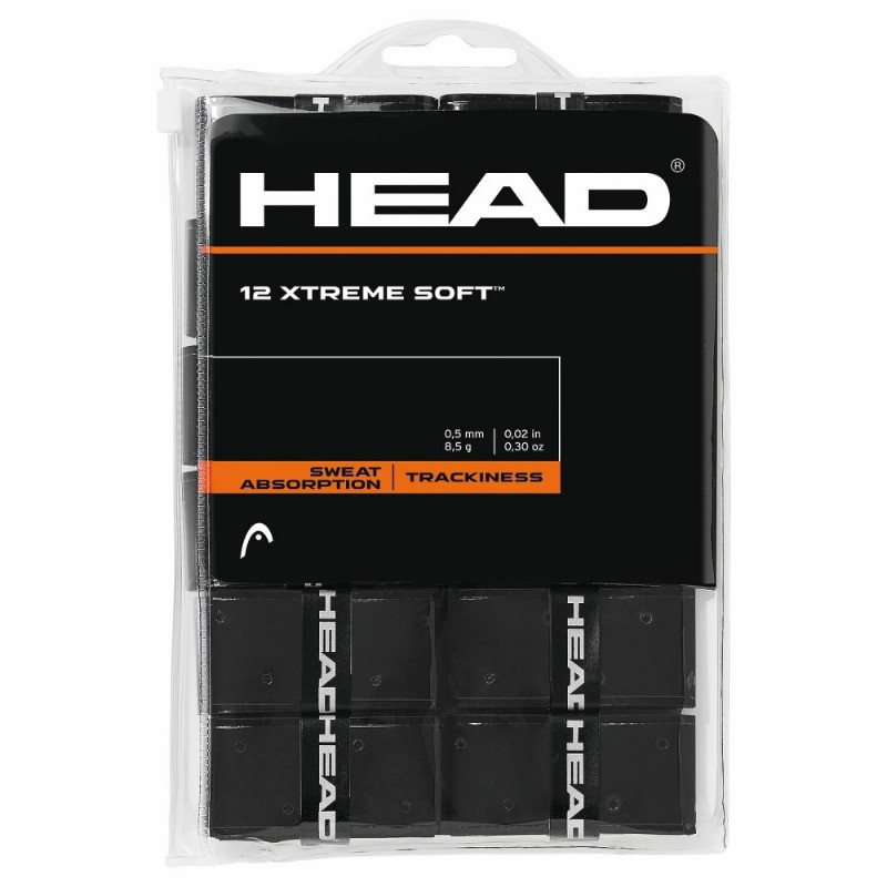 Head Xtreme Soft 12pc Pack Black Overgrip