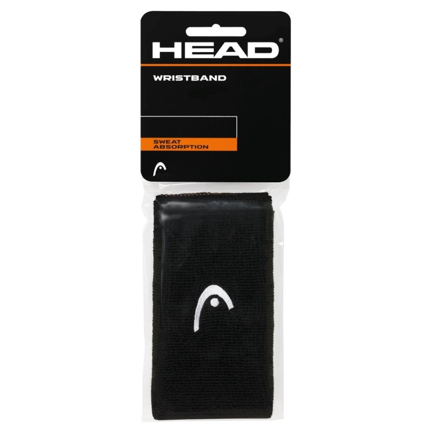 "Head Wristband 5"" Black 2pc"