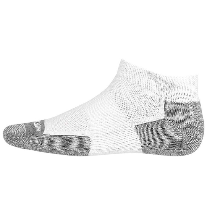 Drymax Tennis Mini Crew White Socks (Size: X-Large, EUR 44.5-47)