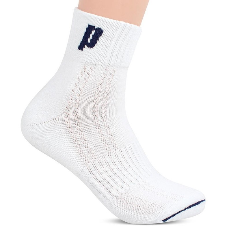 Prince Quarter Crew Men's Socks White/Navy