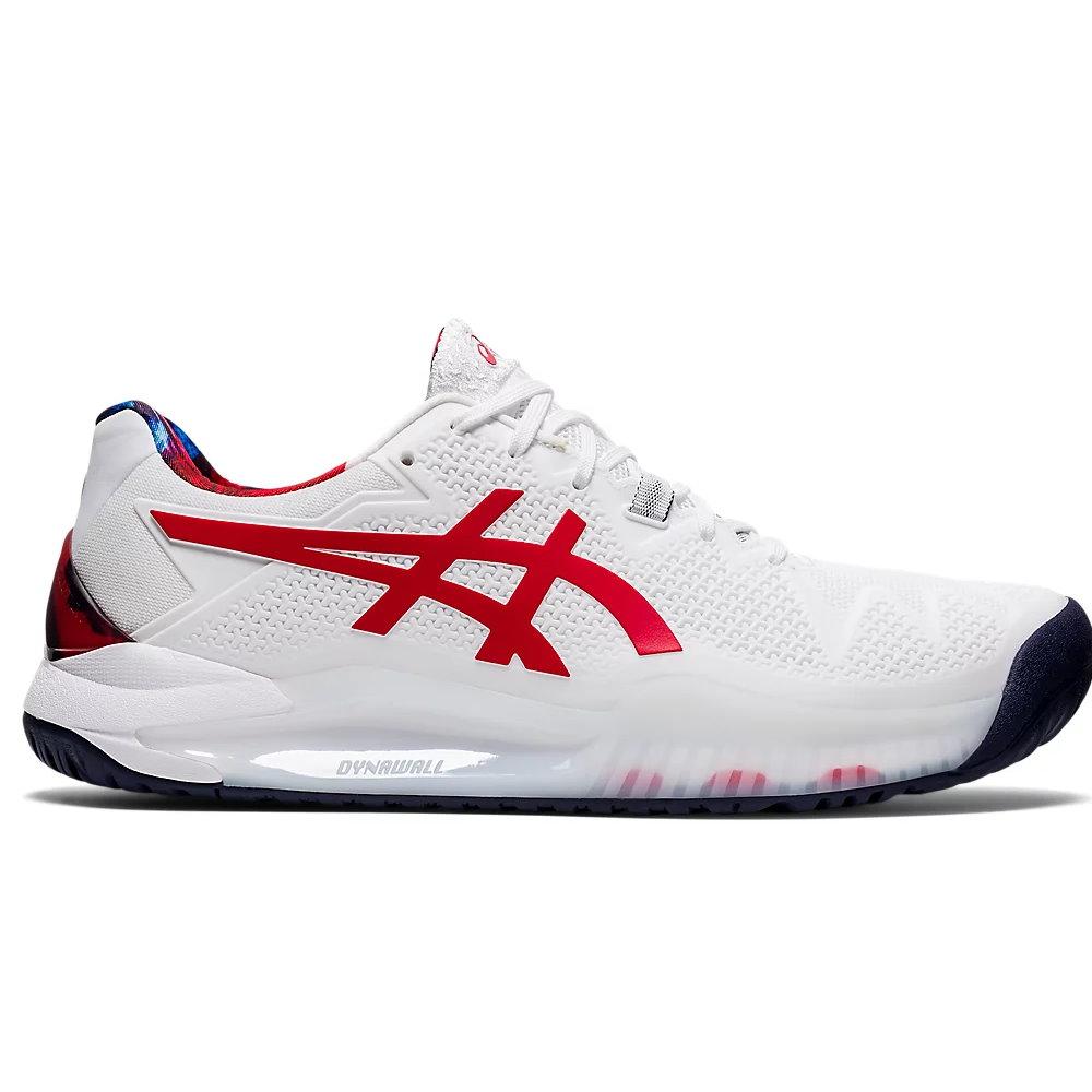 Asics Gel-Solution 8 L.E. White/Classic Red Men's Shoes