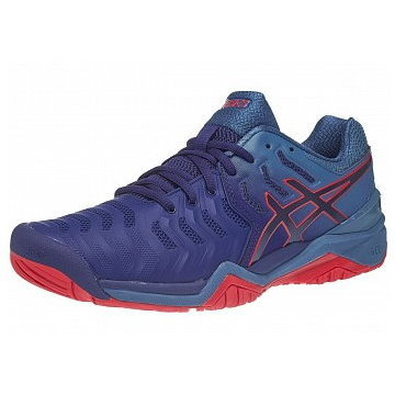 Asics Gel Resolution 7 Blue/Red Men's Shoes