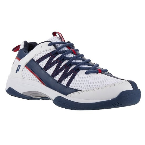 Prince Vortex White/Navy/Red Men's Shoes