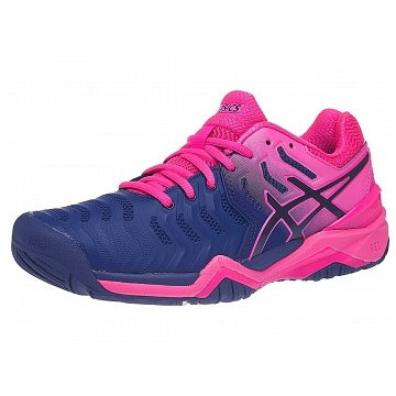 Asics Gel-Resolution 7 Navy/Pink Women's Shoes