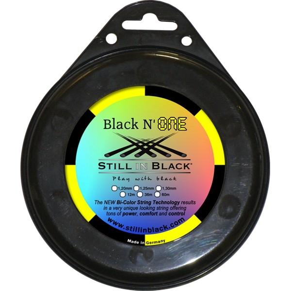 Still In Black Black N One 1.30 Black/Yellow String