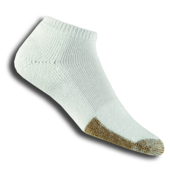 Thorlos TMM Unisex Micro Mini-Crew White Tennis Socks