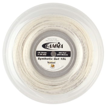 Gamma Synthetic Gut WearGuard 15L Reel White String