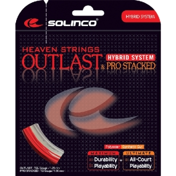 Solinco Hybrid Outlast 17 & Pro Stacked 16 String